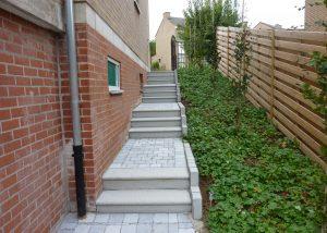 trappen, natuursteen, palladio light, blauwe steen, Hoeilaart