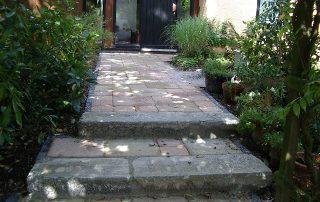 trappen, ruwe natuursteen, Waterloo