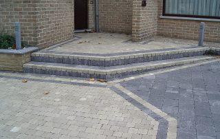 trappen, betonklinkers, Leefdaal