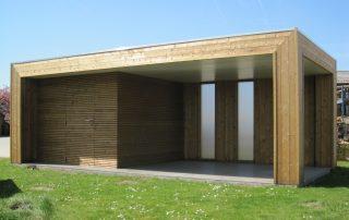 tuinhuis met berging, strak, modern, Wezemaal