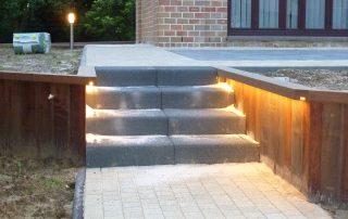 houtconstructie, trappen, -LED-verlichting, Messelbroek